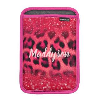 Funda Para iPad Mini Falsos puntos rosados del leopardo del purpurina