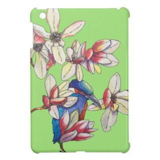 Funda Para iPad Mini flores y un pájaro
