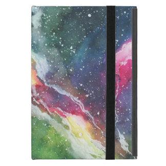 Funda Para iPad Mini Galaxia de la nebulosa del espacio de la acuarela