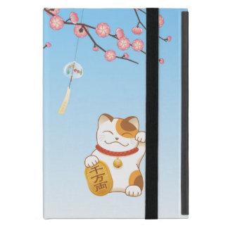 Funda Para iPad Mini Gato afortunado japonés, calicó Maneki Neko