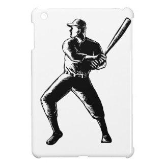 Funda Para iPad Mini Grabar en madera del bateo del jugador de béisbol