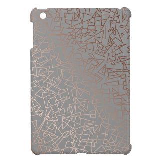 Funda Para iPad Mini Gris geométrico del modelo del oro color de rosa