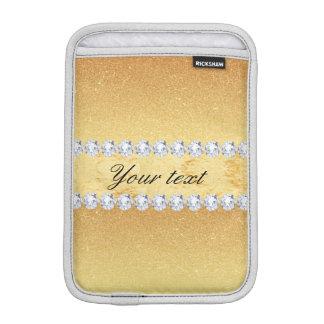 Funda Para iPad Mini Hoja y diamantes elegantes del brillo del oro