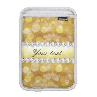Funda Para iPad Mini Hoja y diamantes hermosos de Bokeh del oro