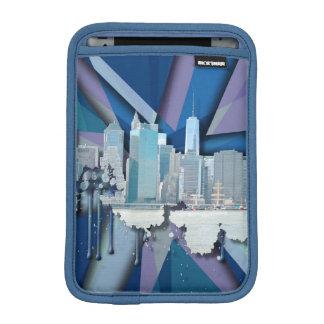 Funda Para iPad Mini Horizonte el | 3D azul de New York City