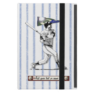 Funda Para iPad Mini Jugador de béisbol y banderín