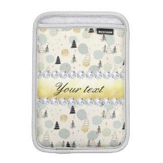 Funda Para iPad Mini La nieve moderna de los árboles de navidad