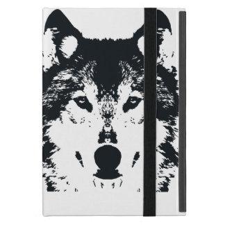 Funda Para iPad Mini Lobo negro del ilustracion