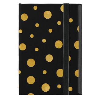 Funda Para iPad Mini Lunares elegantes - oro negro