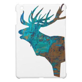 Funda Para iPad Mini macho principal de los ciervos en turqouis y