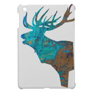 Funda Para iPad Mini macho principal de los ciervos en turquois