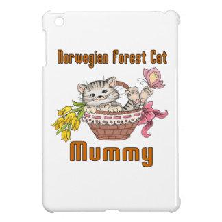 Funda Para iPad Mini Mamá noruega del gato del gato del bosque