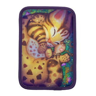 Funda Para iPad Mini Mangas del iPad del gato de leopardo (noche)