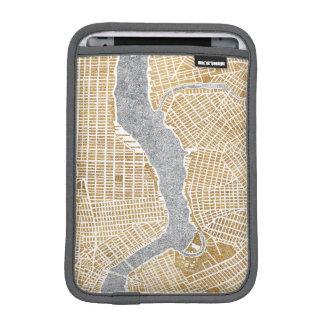 Funda Para iPad Mini Mapa dorado de la ciudad de Nueva York