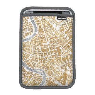 Funda Para iPad Mini Mapa dorado de la ciudad de Roma