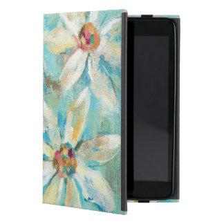 Funda Para iPad Mini Margaritas blancas en azul