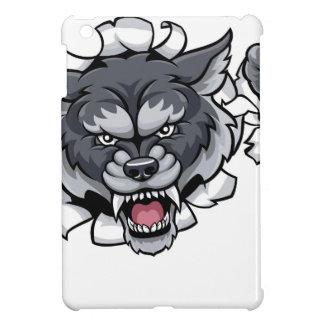 Funda Para iPad Mini Mascota del grillo del lobo que rompe el fondo