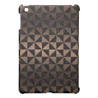FUNDA PARA iPad MINI METAL NEGRO DEL MÁRMOL TRIANGLE1 Y DEL BRONCE