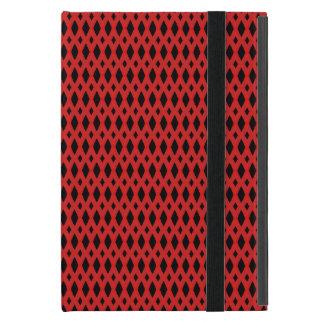 Funda Para iPad Mini Mini caso de Powis del iPad negro y rojo del