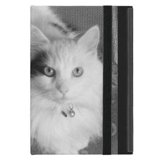 Funda Para iPad Mini Mini caso del gato del iPad lindo mullido blanco