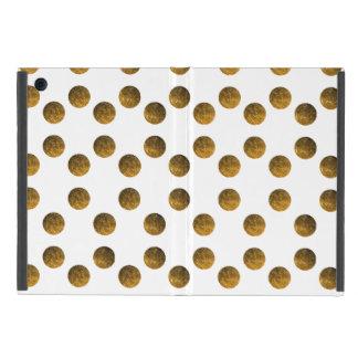 Funda Para iPad Mini Mini caso del iPad de oro de los lunares sin