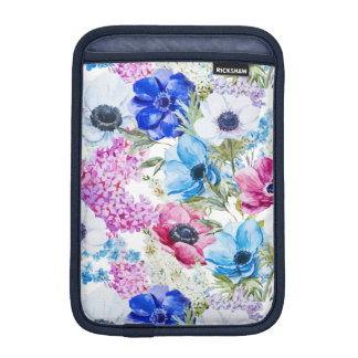 Funda Para iPad Mini Modelo de flores púrpura azul de medianoche de la