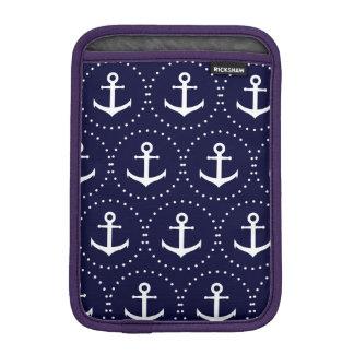 Funda Para iPad Mini Modelo del círculo del ancla de la marina de