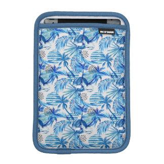 Funda Para iPad Mini Modelo tropical azul brillante de la acuarela