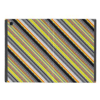 Funda Para iPad Mini Modelos aztecas amarillo-naranja grises lindos