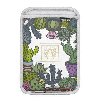 Funda Para iPad Mini Monograma A del cactus