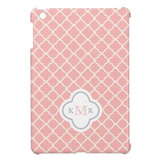 Funda Para iPad Mini Monograma elegante del modelo del rosa de color
