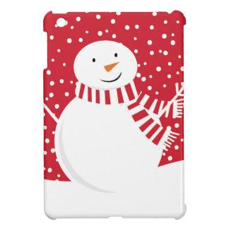 Funda Para iPad Mini muñeco de nieve rojo y blanco contemporáneo