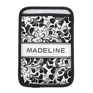 Funda Para iPad Mini Nombre blanco y negro elegante del personalizado