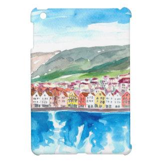 Funda Para iPad Mini Orilla del mar vieja del puerto de Bergen Noruega