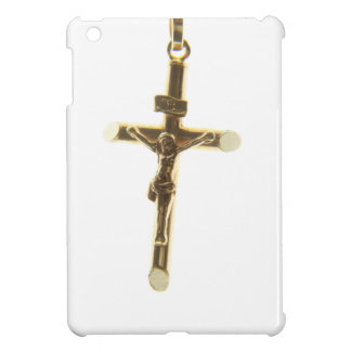 Funda Para iPad Mini Oro cruzado del Jesucristo horizontal