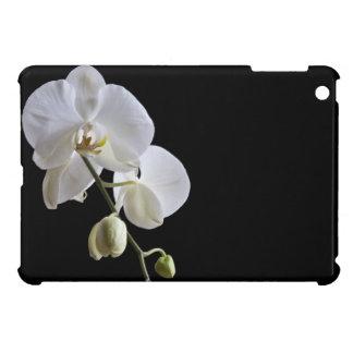Funda Para iPad Mini Orquídeas blancas del Phalaenopsis en negro