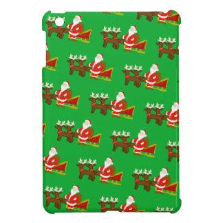 Funda Para iPad Mini Papá Noel en el trineo del navidad