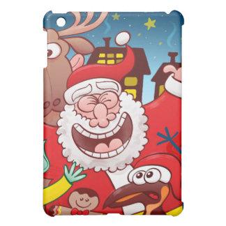Funda Para iPad Mini Papá Noel y su equipo están listos para el navidad
