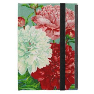 Funda Para iPad Mini Peonies florales del vintage del arte del vintage