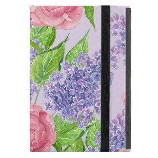 Funda Para iPad Mini Peonies y lilas de la acuarela