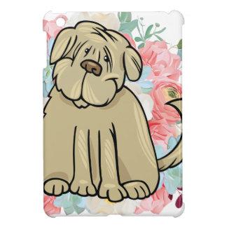 Funda Para iPad Mini Perro grande mullido con las flores