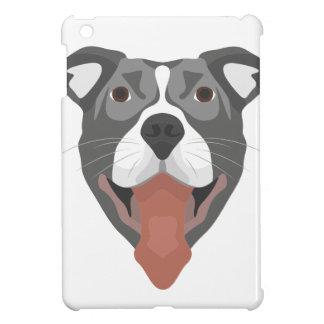 Funda Para iPad Mini Perro Pitbull sonriente del ilustracion