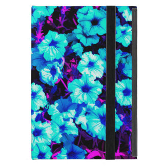 Funda Para iPad Mini Petunias azules brillantes