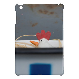 Funda Para iPad Mini Pollo en un cuenco a cuadros