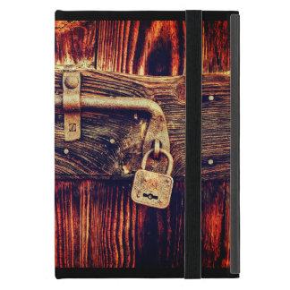 Funda Para iPad Mini Puerta de madera vieja con el caso de cobre