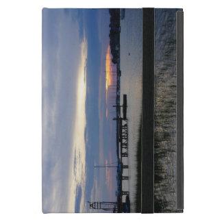 Funda Para iPad Mini Puesta del sol del puerto de la locura