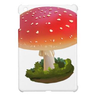 Funda Para iPad Mini Puntos rojos del blanco del arte de la seta de la