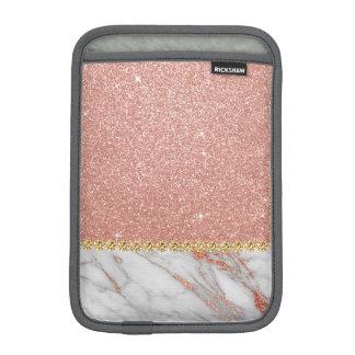Funda Para iPad Mini Purpurina del oro y mármol color de rosa rosados