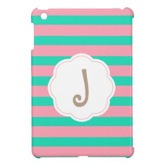 Funda Para iPad Mini Rayas rosadas y de la menta