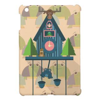 Funda Para iPad Mini Reloj de cuco con el papel de empapelar de la